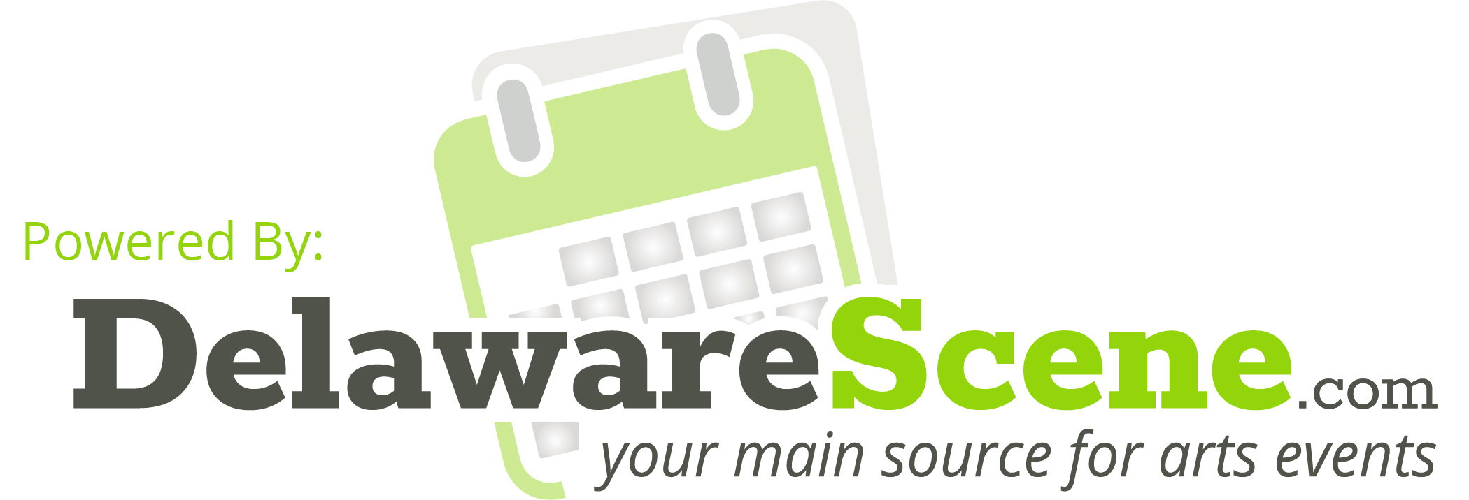 Powered by: Delaware Scene.com - Your main source for arts events logo graphic