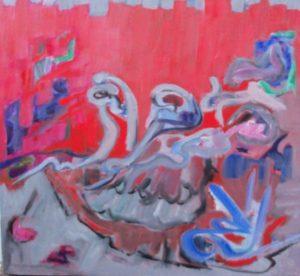 #1390 Bach, BRANDENBURG CONCERTO #3, acrylic on canvas