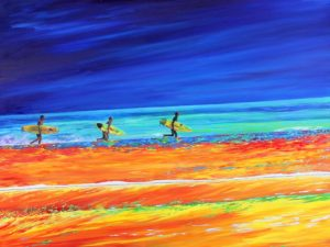 Chasing a Dream, 2012, oil