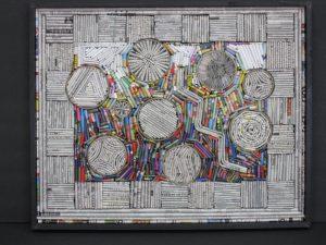 "Nine, 2014, folded paper 16"" x 20"""