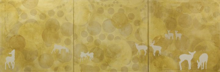 "Oh Deer, 2009, oil on canvas, 90"" x 30"""
