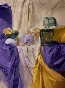 """Partita, 2010, oil on linen, 50"""" x 37"""""""
