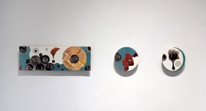 """R, 2009, Mixed Media Collage on Panel, 8"""" x 40"""""""