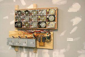 """Datum, 2008-2009, electronic sculpture, 39""""(w) x 27""""(h) x 6""""(d)"""