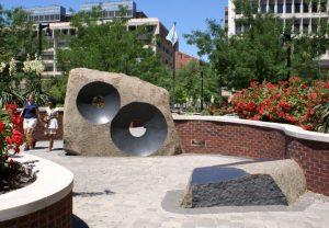 "Rendezvous, 2005, Brandywine granite, 8' H x 9'6"" L x 2' W"
