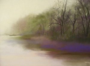 "The Silence, 2012, pastel, 18"" x 24"""