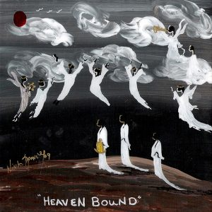 "Heaven Bound, 2009, acrylic on tile, 8"" x 8"""