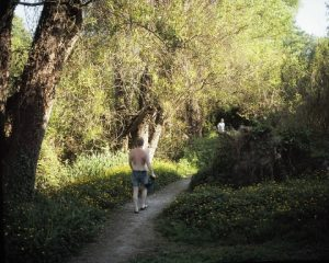 "Two Men on a Path, 2009, archival pigment print, 16"" x 20"""
