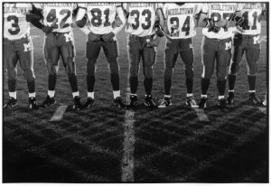 "Untitled, from Friday Night Football Series, 2009, gelatin silver print, 11 "" x 14"""