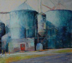 "Grand Silos , 2012, Oil on linen, 30"" x 28 """