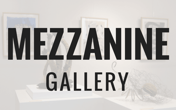 The Mezzanine Gallery presents solo exhibitions of work by Delaware artists.