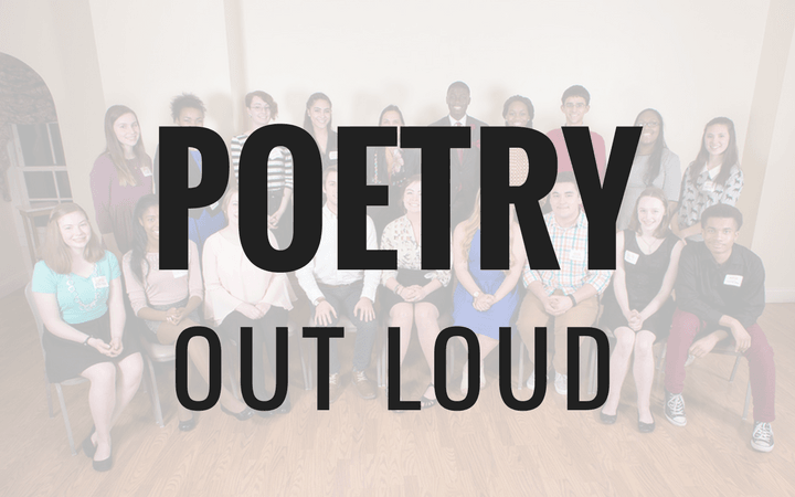 Poetry Out Loud encourages students to learn about great poetry through memorization and recitation.