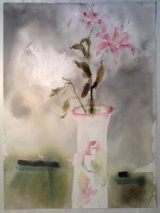 "RePiet, 2016 watercolor 24"" x 18"""