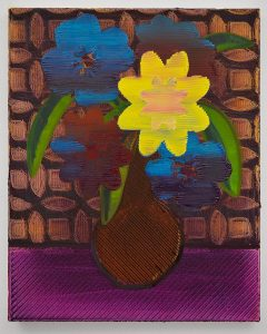 "Night Flowers, 2016, Oil on Canvas, 30"" x 24"" x 2"""