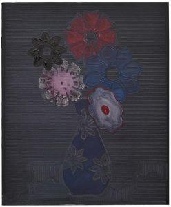 """Pale Bouquet, 2016, Oil on Canvas, 20"""" x 16"""" x 2"""""""