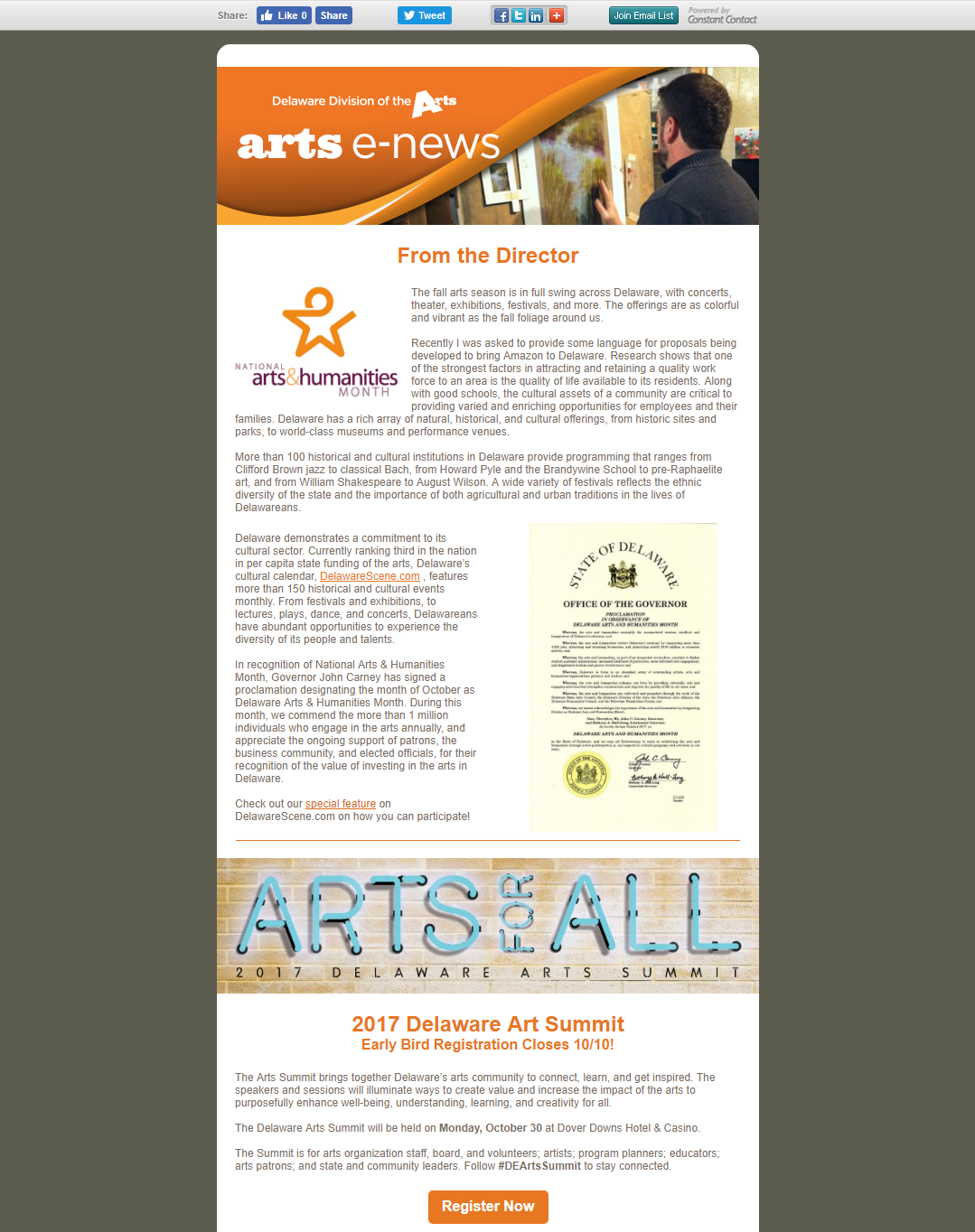2017 October - Arts E-News