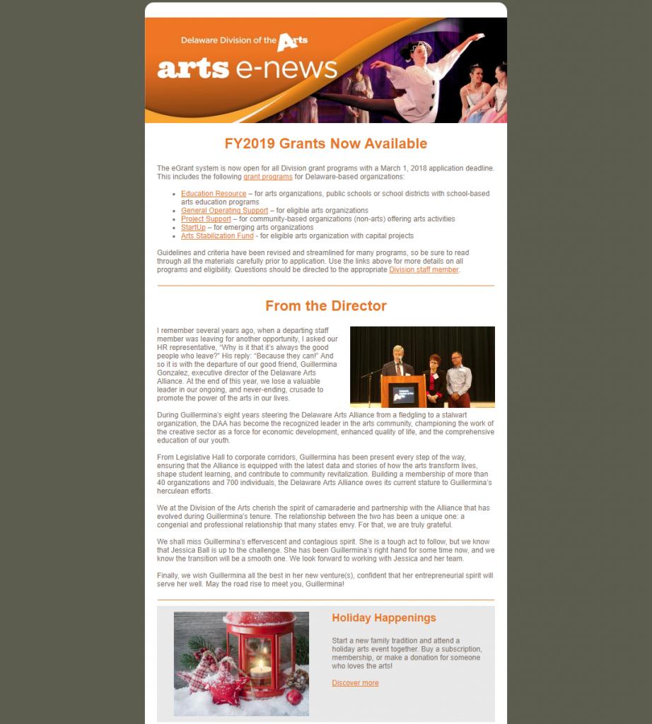 2017 December Arts E-News