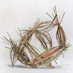 "Bundled, 2015, poplar wood, acrylic paint, 5"" x 7"" x 4"""