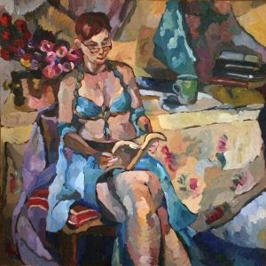 "Archaeology, 2016, oil on canvas, 20"" x 20"""
