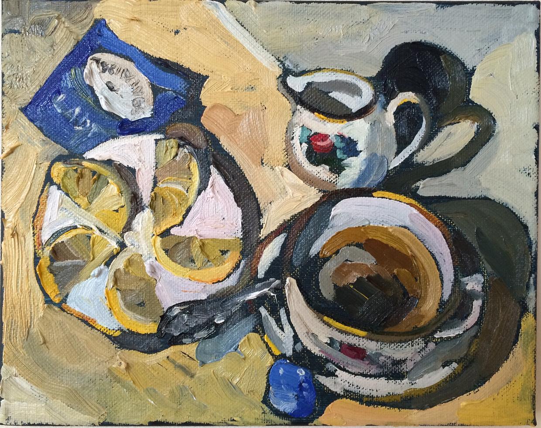 """Lady Grey, 2015, oil on canvas, 8"""" x 10"""""""