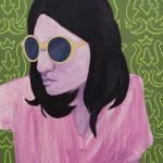 "self-portrait (lime), 2017, oil on panel, 24"" x 18"""