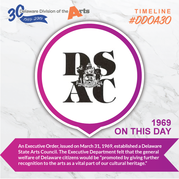 Timeline: DSAC Established - Delaware Division of the Arts 30th Anniversary