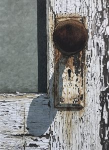 painting of an old doorknob